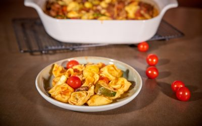 Tortellini mit Hackfleisch und Gemüse